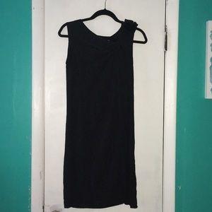 Black dress by Vera Wang